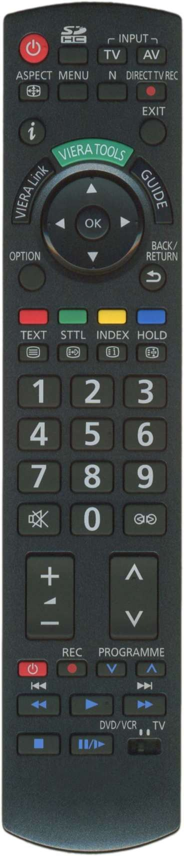 Image of   Panasonic fjernbetjening, original, N2QAYB000354
