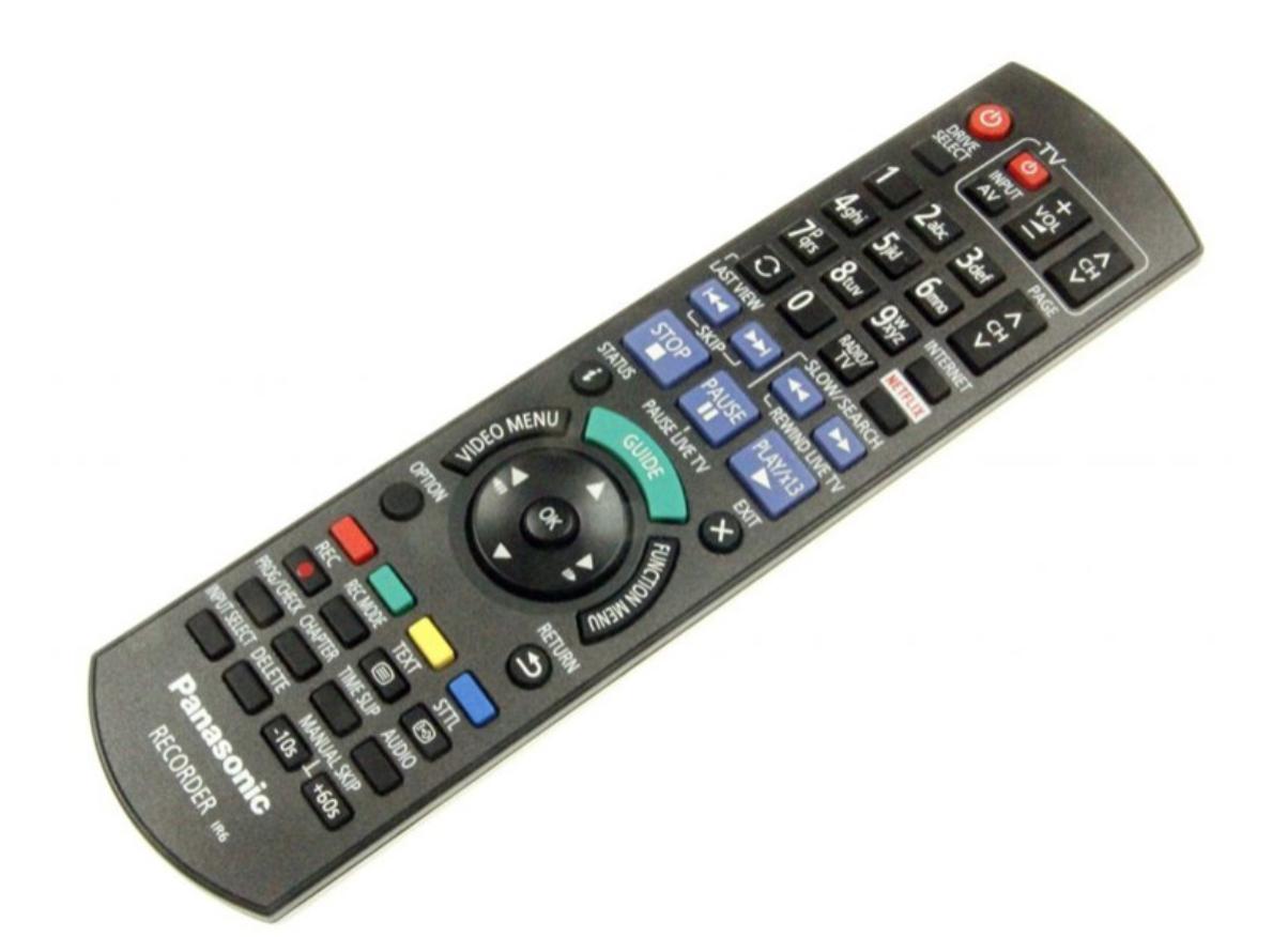 Image of   Panasonic fjernbetjening, original, N2QAYB001046