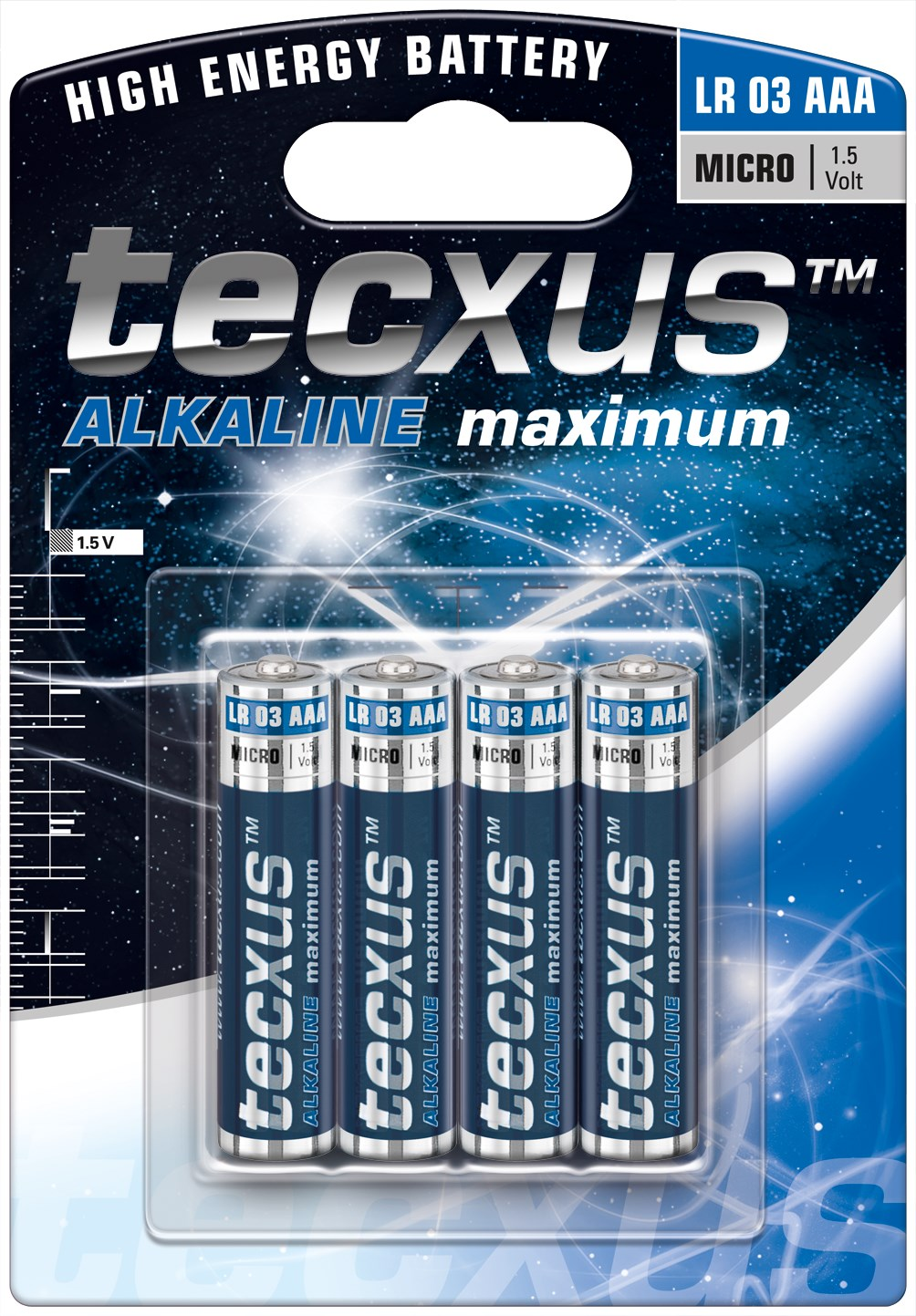 Image of   Alkaline Batteri AAA, 4-pak, tecxus ALKALINE maximum