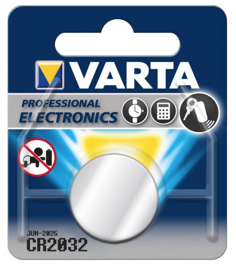 Image of   Batteri, lithium, 3V, CR2032, Varta