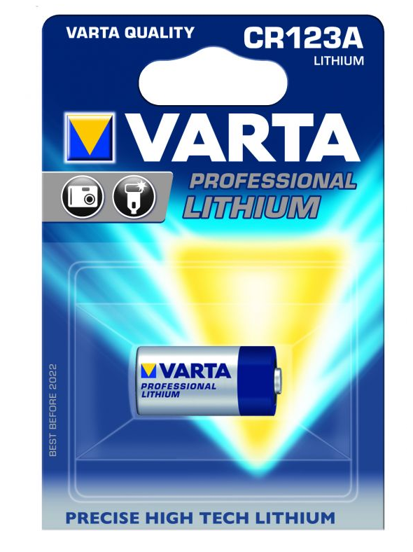 Image of   Batteri, CR123A, Varta Professional Lithium