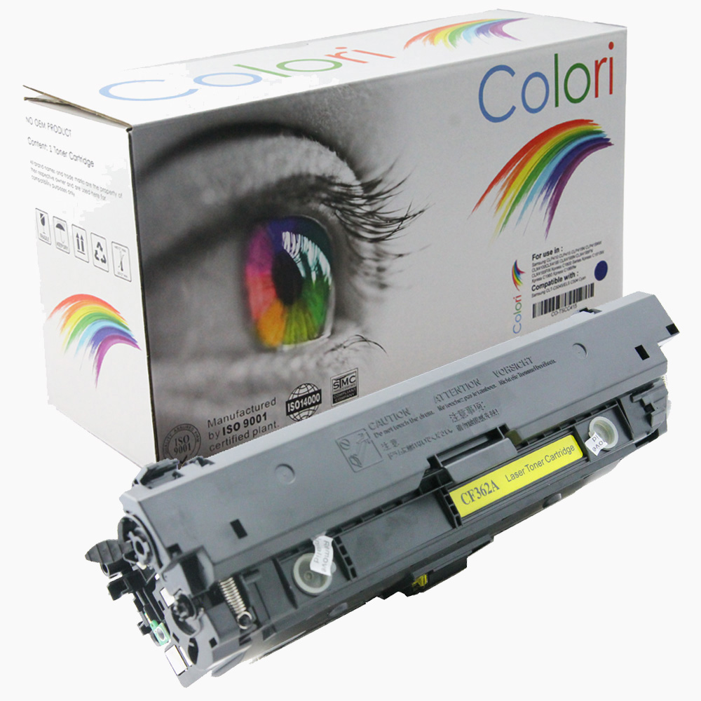 Image of   Printer Toner, HP, 508A CF362A 508X CF362X Gul
