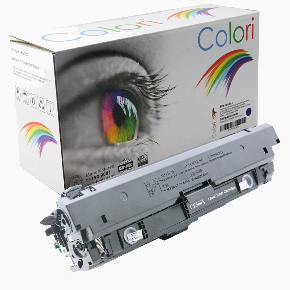 Image of   Printer Toner, HP, 508A CF360A 508X eller CF360X Sort
