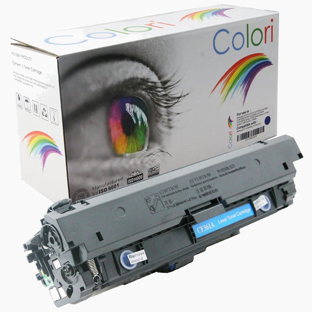 Image of   Printer Toner, HP, 508A CF361A M552 M553 M577 Cyan
